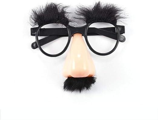 TUUROPD anteojos con Bigote y Nariz para Disfraz, Disfraz, Disfraz ...