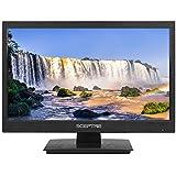 """Sceptre 18"""" LED HDTV HDMI VGA USB Clear QAM, Brushed Black 2019 (E185BV-SSC)"""