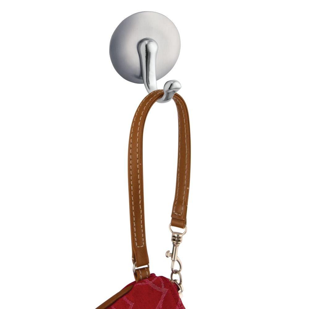 InterDesign York Magnetic Key Rack Organizer for Home & Kitchen - Set of 3, 1 Hook, Stainless Steel/Chrome by InterDesign (Image #3)
