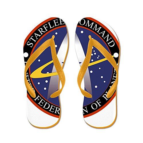 Cafepress Starfleet Kommando Emblem - Flip Flops, Roliga Rem Sandaler, Strand Sandaler Apelsin