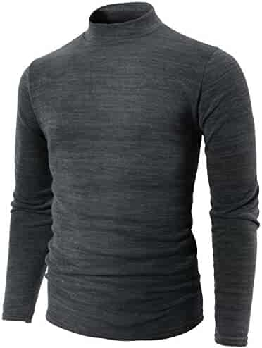 ceb0f2c576 H2H Mens Casual Slim Fit Knitted Thermal Turtleneck Pullover Sweaters Basic  Designed