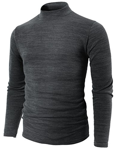 Jumper Argyle - H2H Mens Casual Slim Fit Half Turtle-Neck Lightweight Sweater Gray US M/Asia XL (KMTTL0412)