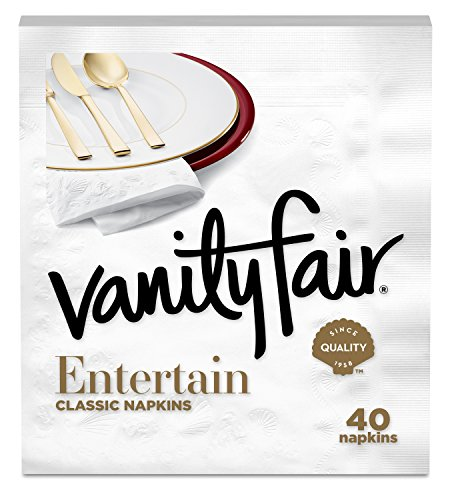 Vanity Fair Entertain Dinner Napkins, 40 Count Paper Napkins ()