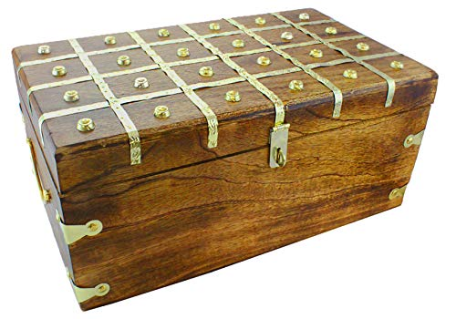 Well Pack Box Wooden Pirate Treasure Chest Box 17