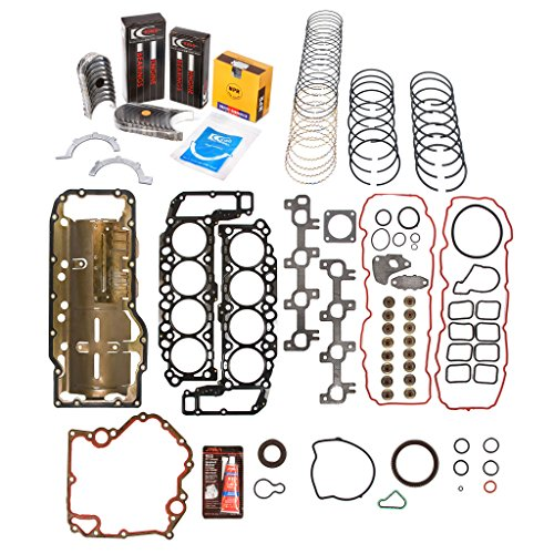 Evergreen Engine Rering Kit FSBRR8-30400\0\0\0 99-03 Dodge Dakota Durango Jeep 4.7 SOHC Full Gasket Set, Standard Size Main Rod Bearings, Standard Size Piston Rings