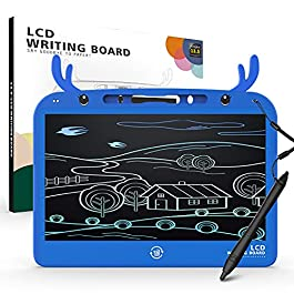 B.ANGEL 13.5 Inch Kids LCD Colorful Writing Board, Toddler Learning Activities Doodle Board, Learning Toys, Traveling Gift Toys for 3 4 5 6 Year Old Boys and Girls