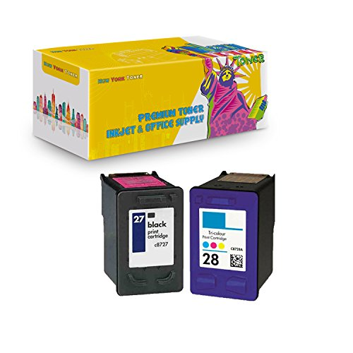 C8728a Colour - New York TonerTM New Compatible 2 Pack HP C8727A (HP 27) HP C8728A (HP 28) High Yield Inkjet for HP : 1315xi - 1 Black 1 Color