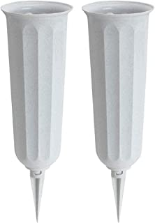 product image for Stone Plastic Cemetery Vase, 2-Pack