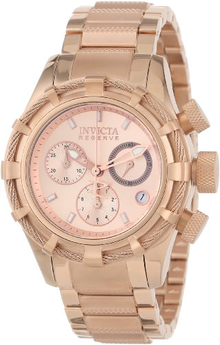 Invicta Women's 12460 Bolt Reserve Analog Swiss Quartz Rose Gold Ion-Plated Stainless Steel Watch (Invicta Reserve Watches Women)