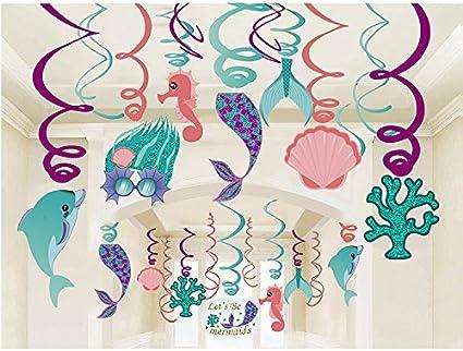 BDECOLL 30 Pezzi Decorazione a sospensione---Lets be Mermaid