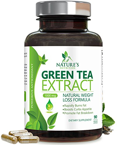- Green Tea Extract 98% with EGCG for Weight Loss 1000mg - Boost Metabolism for Healthy Heart - Antioxidants & Polyphenols for Immune System - Gentle Caffeine - Natural Fat Burner Pills - 90 Capsules