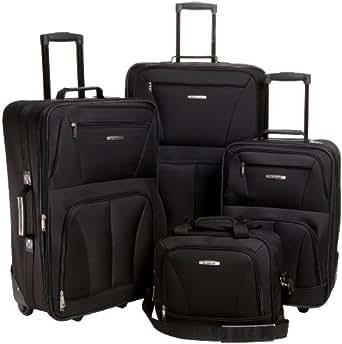 rockland luggage skate wheels 4 piece luggage. Black Bedroom Furniture Sets. Home Design Ideas