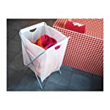 Ikea Laundry Bag w/ Stand 18 Gallon 26'' H Holds 15lbs Foldable Clothes Storage Tote White Jall