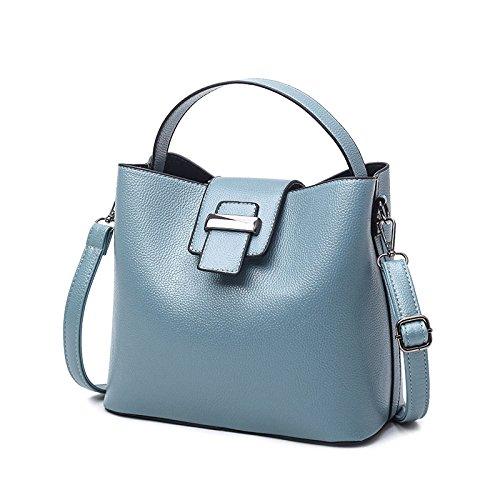 Diagonale Femme Seau Blue Sac Sac LQQAZY Paquet Simple à Sac Main Bandoulière zp5OZ