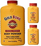 Gold Bond Medicated Powder 10 oz with 2 Travel Size Bottles