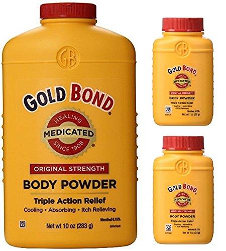 Gold Bond Medicated Powder 10 oz with 2 Travel Size ()