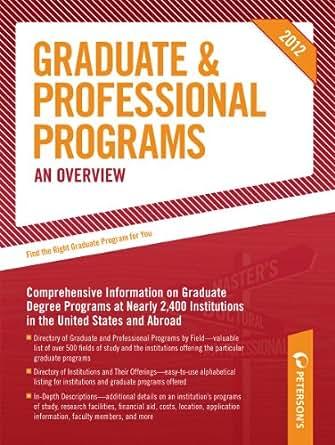 Amazon.com: Peterson's Graduate & Professional Programs