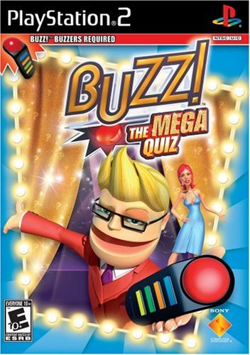 BUZZ: The Mega Quiz (Software Only) - PlayStation 2 (Games Action Ps2)