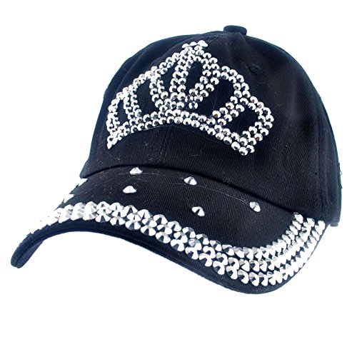 Rhinestone Black Baseball Hat - 9