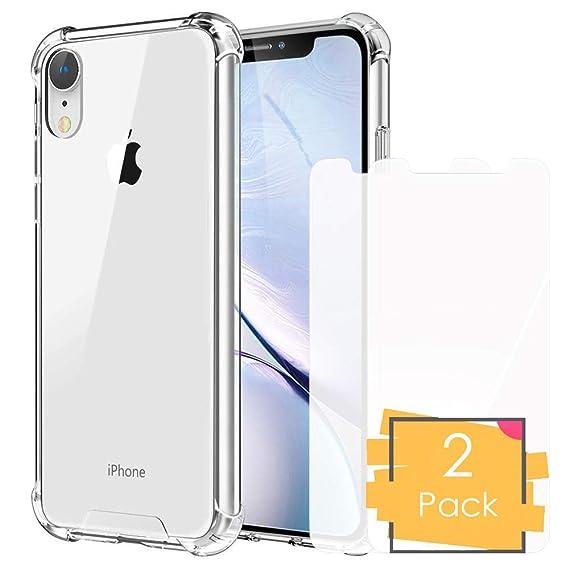 Amazon.com: Funda transparente para iPhone XR con protector ...