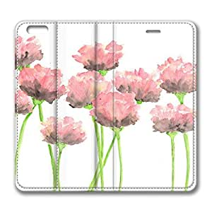 Abstract Pink Flower DIY Leather iphone 6 Case Perfect By Custom Service