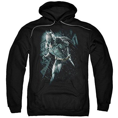 Trevco Men's Batman Dark Knight Rises Hoodie Sweatshirt, Rain Black, Medium ()