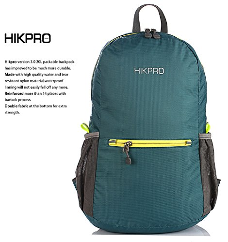 Hikpro 20L – The Most Durable Lightweight Packable Backpack, Water Resistant Travel Hiking Daypack For Men & Women