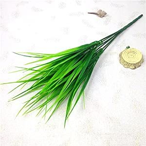Erovy 1 Piece Green Grass Artificial Plants Plastic Flowers Household Wedding Spring Summer Living Room Decor 6