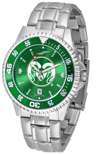 Colorado State Rams Competitor Steel AnoChrome Color Bezel Men's Watch by SunTime