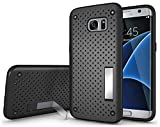 Ilovecase Dual Layer Protective Hybird Armor Case With Kick Stand for Samsung Galaxy S7, back