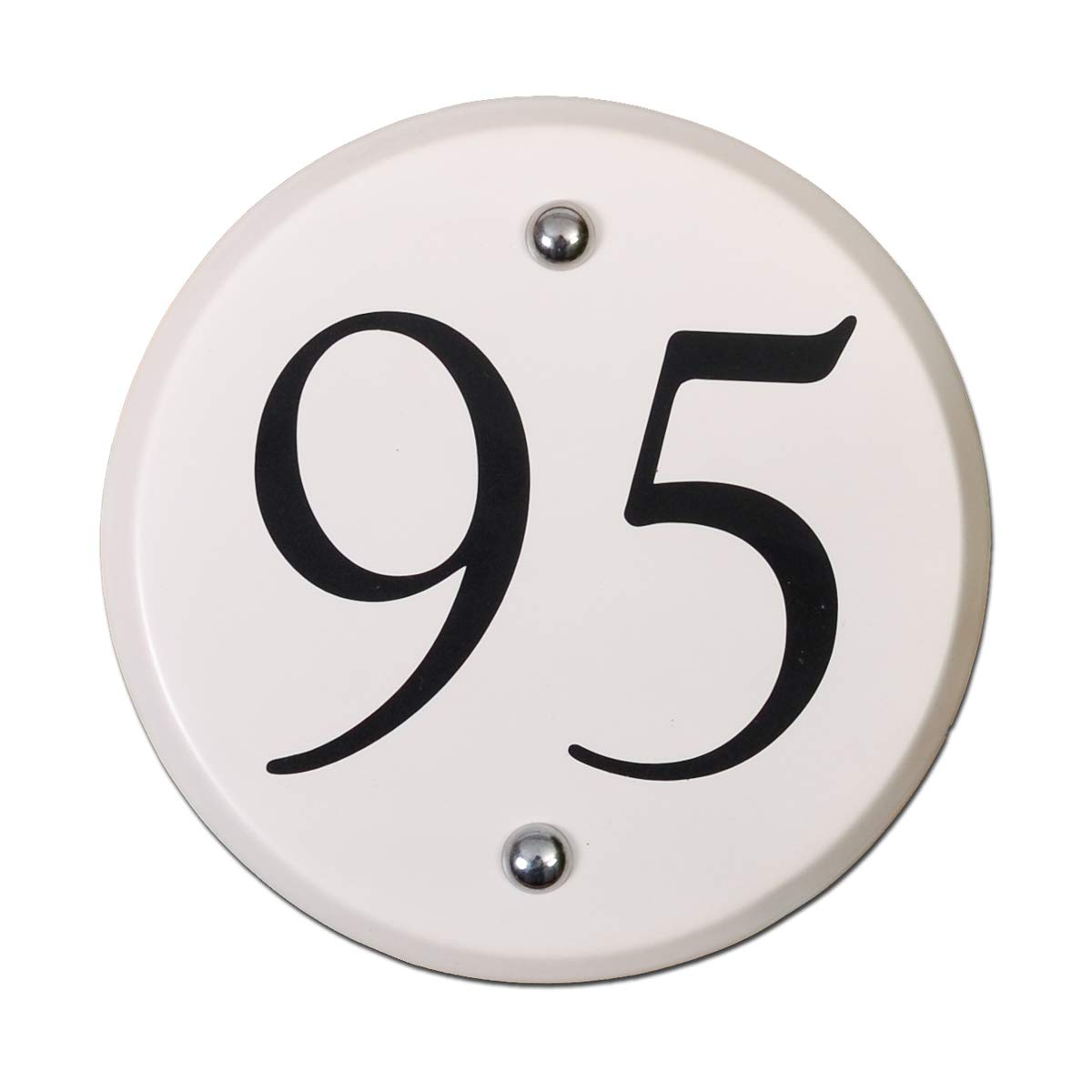 Signs & Numbers White ceramic round house number - SPECIAL CLEARANCE PRICE in UK