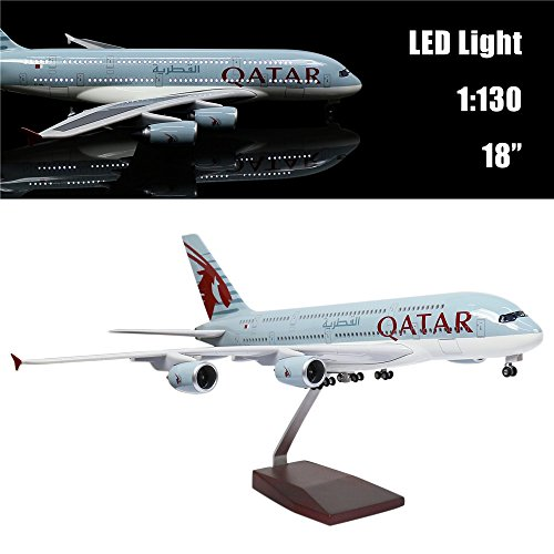"""24-Hours 18"""" 1 160 Scale Airplane Model Qatar A380 for sale  Delivered anywhere in USA"""
