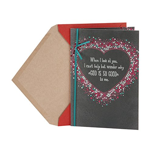 Religious Valentine Cards (Hallmark Mahogany Anniversary Card or Love Card for Husband or Boyfriend (God Is)