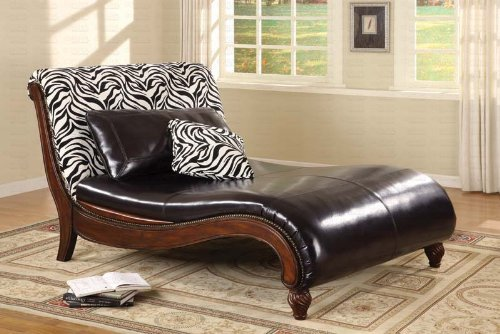 Coaster Zebra Pattern Back Chaise Lounge by Coaster Home Furnishings
