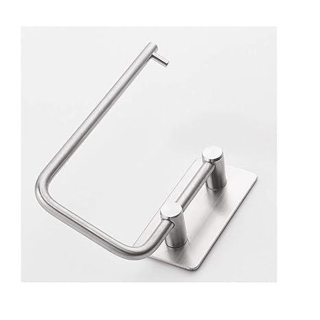 Mengjie Estantes para Ducha Porta-Toallas de Papel Adhesivo Fuerte y sin Marcas de Acero
