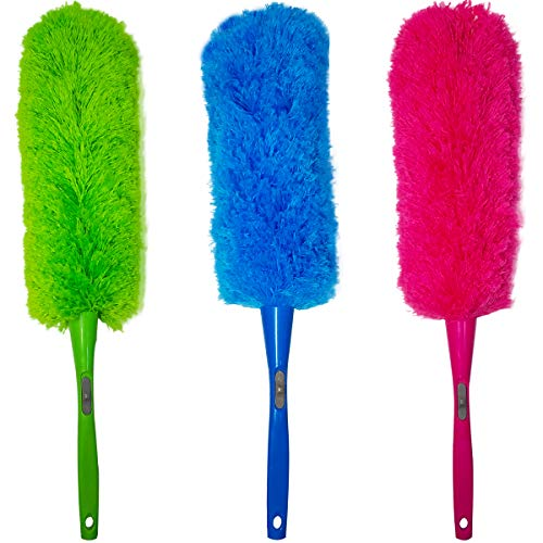 M-jump 3 pcs 23 inch Microfiber Duster for Blinds, Furniture, Shutters, Cars, Delicate Surfaces ()