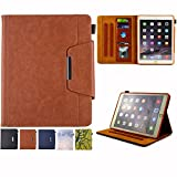 iPad mini 1/2/3 Case - Folio Slim Fit Stand Case with Smart Cover, Auto Sleep/Wake Feature for Apple iPad mini 1/iPad mini 2/iPad mini 3, Brown
