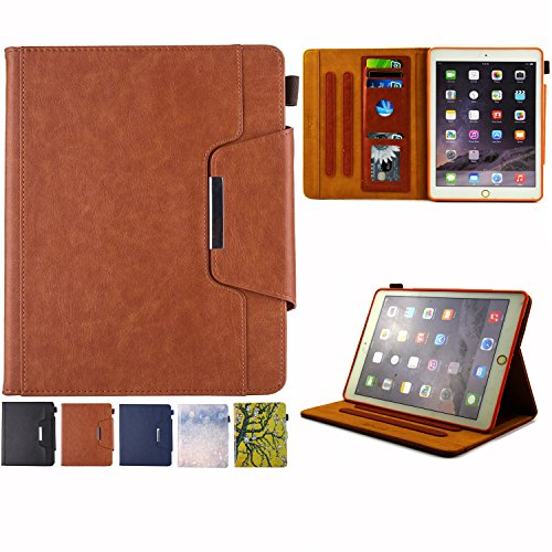 iPad mini 1/2/3 Case - Folio Slim Fit Stand Case with Smart Cover, Auto Sleep/Wake Feature for Apple iPad mini 1/iPad mini 2/iPad mini 3, Brown by JZCreater