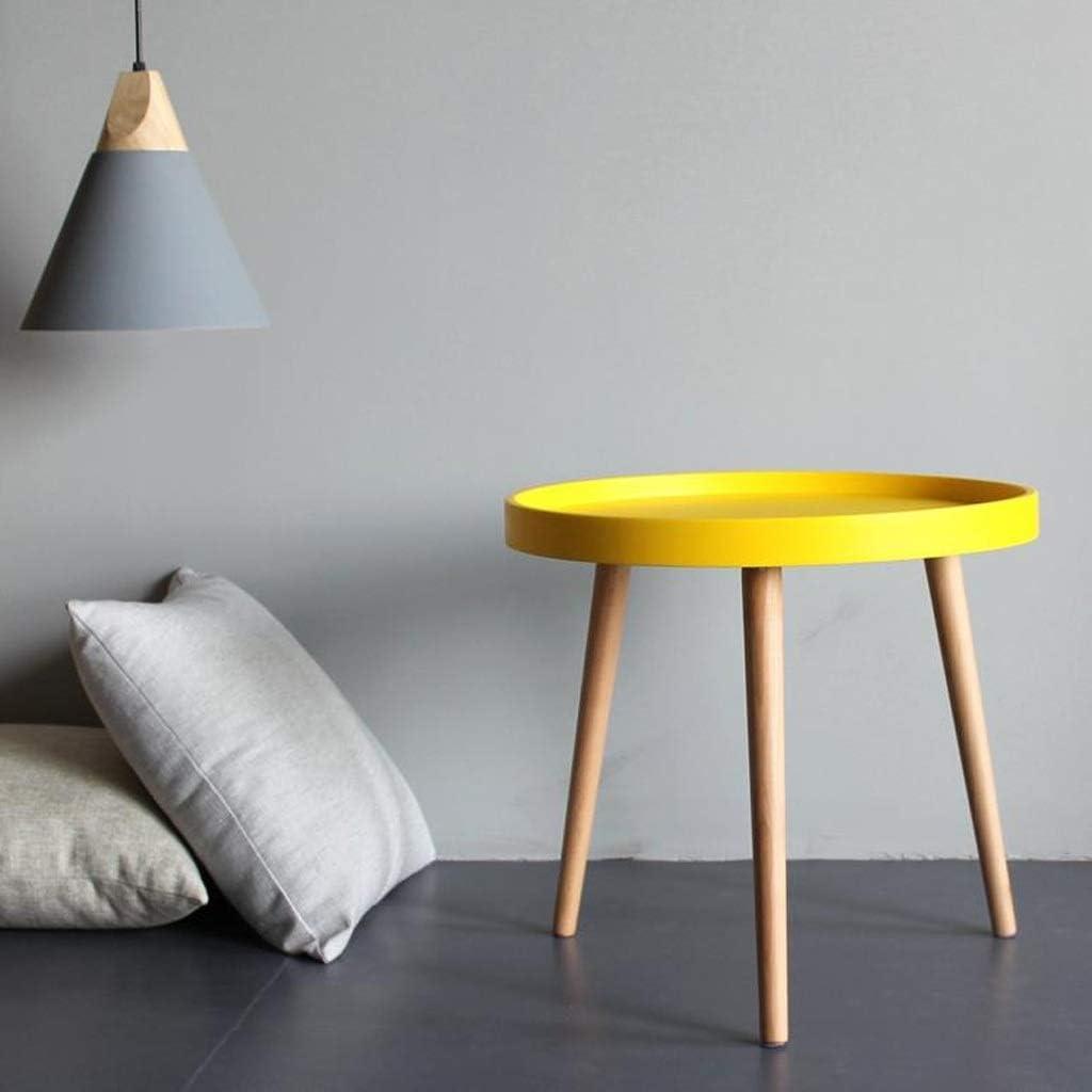 Nieuw MBZL bijzettafel, koffietafel, sofa-snacktafel, salontafel, nachtkastje, ronde bijzettafels voor woonkamer geel rLbTHyP