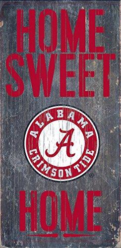 "Fan Creations NCAA Alabama Crimson Tide 6"" x 12"" Home Sweet Home Wood Sign"
