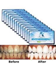Teeth Whitening Strips - Glamorous White - 6% HP Professional Strength - 30 Mins Express Effect - 14 Packs 28 Pieces + Bonus Shade Guide - Vakker