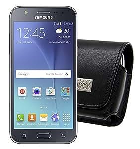 MTT–Funda para/Samsung Galaxy J3/Horizontal piel, cierre de clip y correa de seguridad