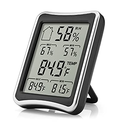 EAAGD Hygrometer Thermometer Indoor Humidity Monitor with Temperature Gauge Humidity Meter - Baby Family Health Care - Works in Celsius and Fahrenheit for Home Living Room Office Warehouse