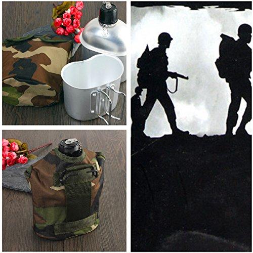 militrischen stil kantine tragbaren outdoor-trinkflasche mit