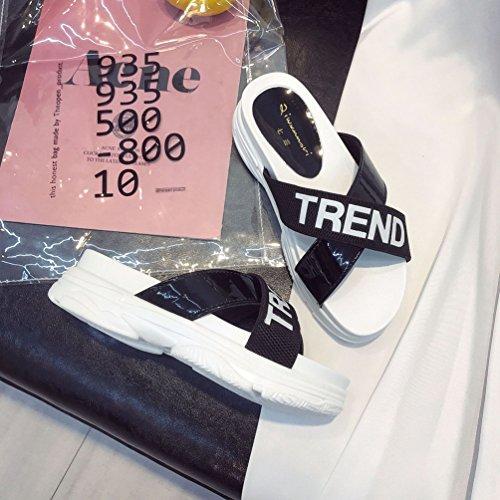 Mode Chaussures Sandales Lanières Claquettes JITIAN Mules Confort Casual Plateformes Noir Sport Femmes AqAptI