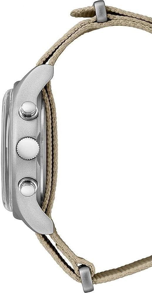Timex Montre Homme Chronographe MK1 Chrono avec Bracelet en Cuir Vert