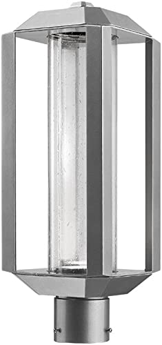 Artcraft Wexford 19 3 4 H Silver Leaf LED Outdoor Post Light