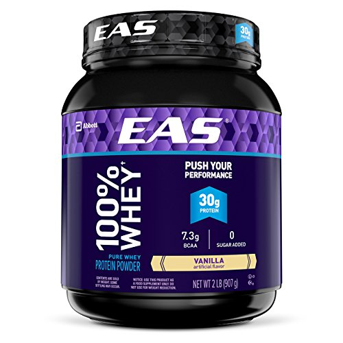 EAS 100% Pure Whey Protein Powder, Vanilla, 2 lb (Packaging May ()