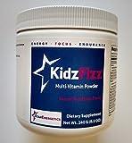 KidzFizz Multi-Vitamin Powder - Natural Fruit Punch Flavor - 30 Servings, Non GMO, Gluten Free, Vegan Friendly