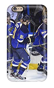 Flexible Tpu Back Case Cover For Iphone 6 - St-louis-blues Hockey Nhl Louis Blues (67)